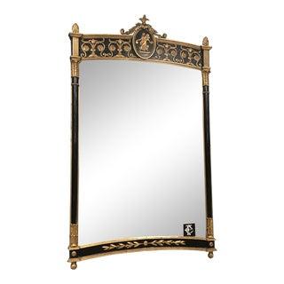 1950s Roman Black & Gold Mirror