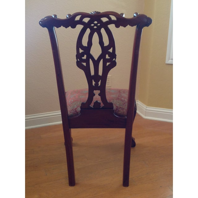 Chippendale-Style Mahogany Dining Chairs - Set of 6 For Sale In Austin - Image 6 of 8