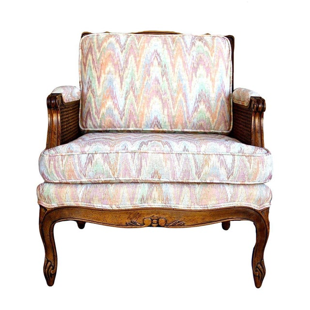 Double-Caned Rainbow Chevron Chair - Image 1 of 6