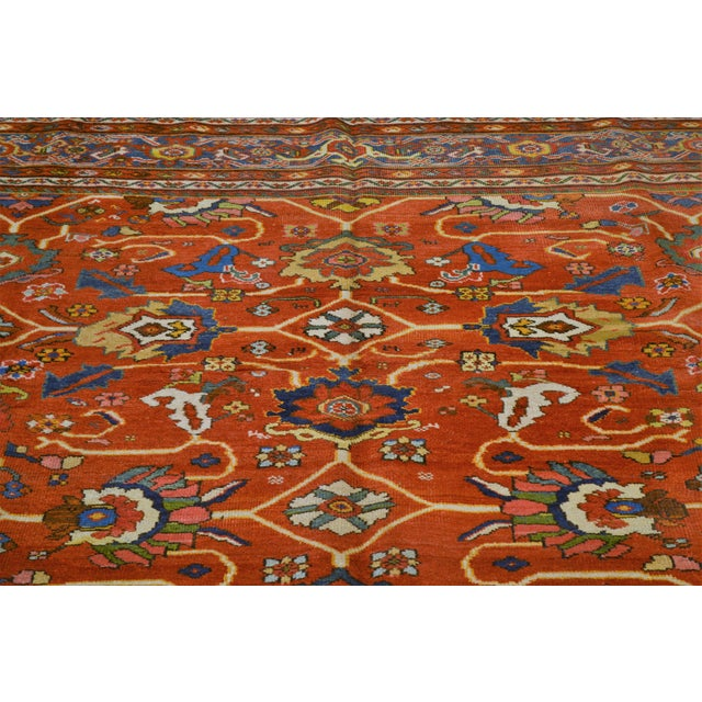 "Islamic Vintage Persian Mahal Rug - 7' x 10'4"" For Sale - Image 3 of 8"