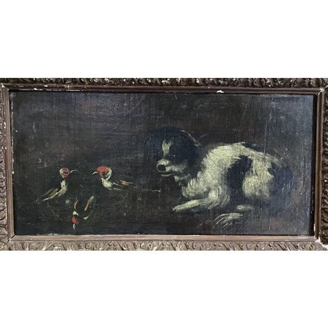 18th Century Italian Dog Painting For Sale In Tampa - Image 6 of 11