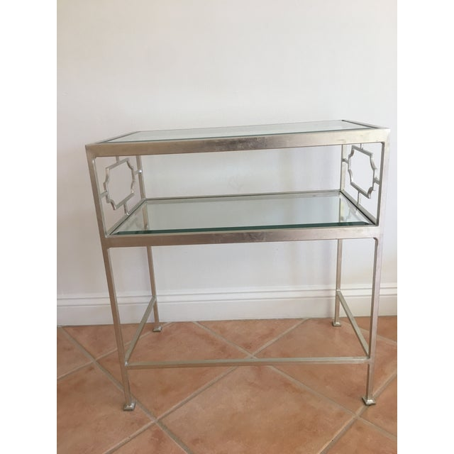 Worlds Away Glass Side Tables - A Pair For Sale - Image 5 of 7