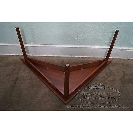 Mid Century Modern Studio Made Triangle Boomerang Low Table For Sale - Image 11 of 13