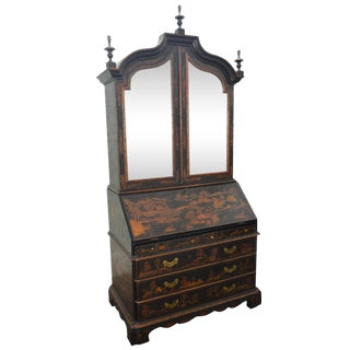 Maitland Smith Hand Painted Large Chinoiserie Secretary Desk For Sale