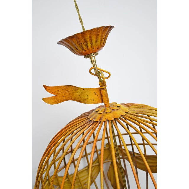 Carnival Vintage Italian Tole Hot Air Balloon Chandelier For Sale - Image 3 of 6