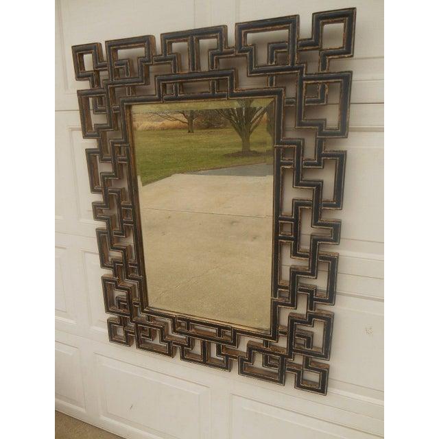 Large Greek Key Gold Gilt Wood Frame Mirror - Image 4 of 5
