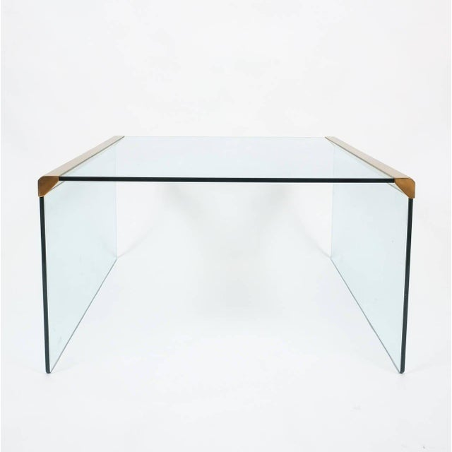 Pierangelo Gallotti Italian Clear Glass Coffee Table by Pierangelo Galotti for Galotti & Radice,1970 For Sale - Image 4 of 6
