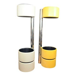 Joe Colombo Style Mod Floor Lamps - a Pair For Sale