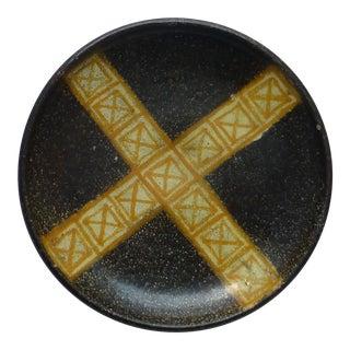 Mid Century Spanish Alfaraz Geometric Plate For Sale