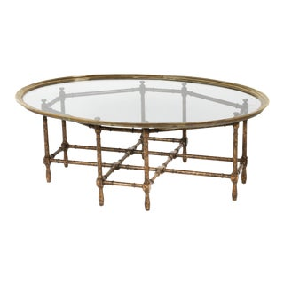 Hollywood Regency Style Coffee Table For Sale