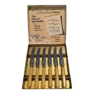 Vintage Bakelite Spreader Knives - Set of 6