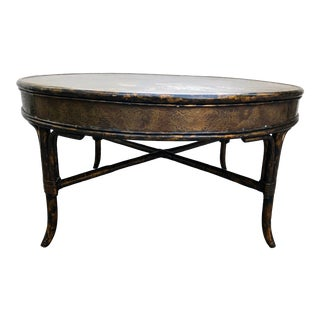 Drexel Heritage Etched Copper Chinoiserie Table- Et Cetera Collection For Sale