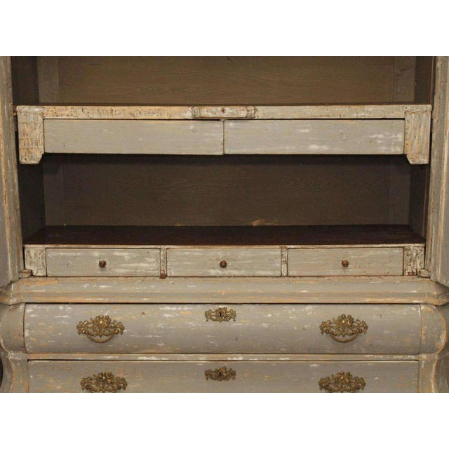 19th C Dutch Painted Buffet Deux Corp - Image 11 of 11