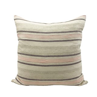 Turkish Rosa Linen and Cotton Pillow For Sale