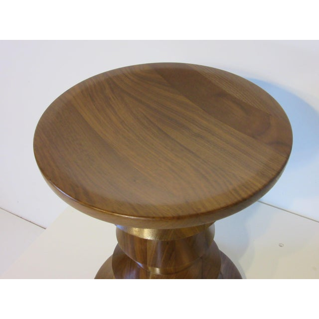 Mid 20th Century Vintage Eames Walnut Time Life Stool for Herman Miller ( C ) Model For Sale - Image 5 of 9