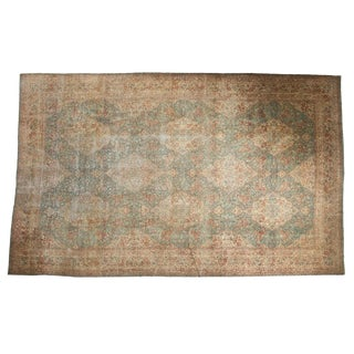 Vintage Distressed Kerman Carpet - 10' X 16'