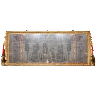 George III Giltwood Over Mantel Mirror For Sale