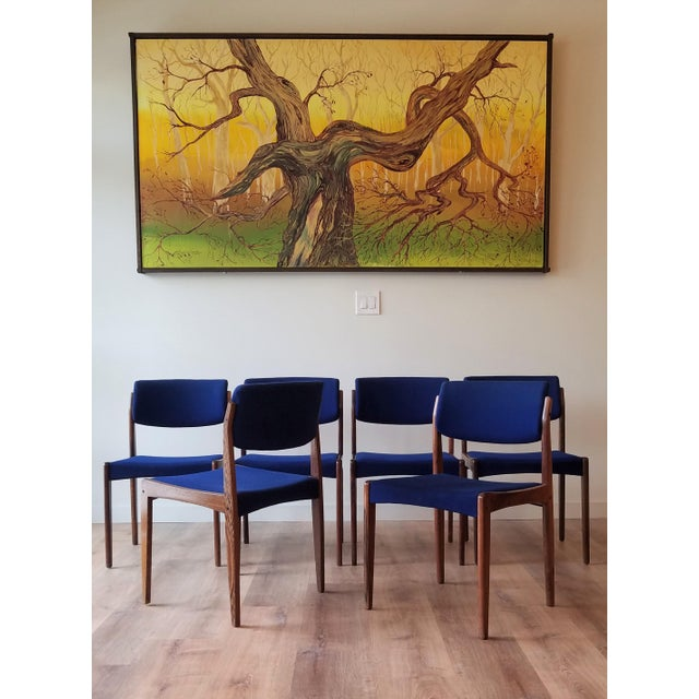 Mid-Century Modern 1960s Danish Rosewood Dining Chairs - Set of 6 For Sale - Image 3 of 13