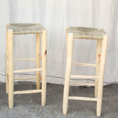 Moroccan Hand Carved Bar Stools A Pair Chairish
