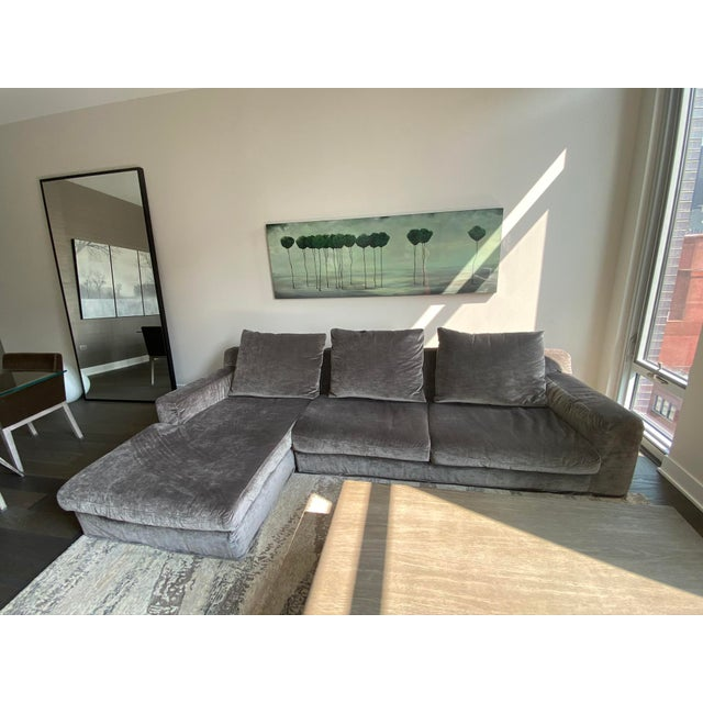 "Gray Italian Contemporary Upholstered Sofa Sectional ""LeClub"" by Massimiliano Mornati for Jesse Furniture For Sale - Image 8 of 13"
