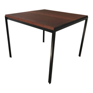 "Florence Knoll ""T"" Angle Mahogany Dining Table For Sale"