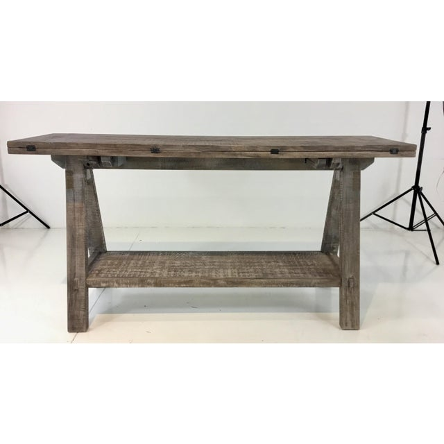 Fine Gray Washed Flip Top Console Table Dining Table Gmtry Best Dining Table And Chair Ideas Images Gmtryco