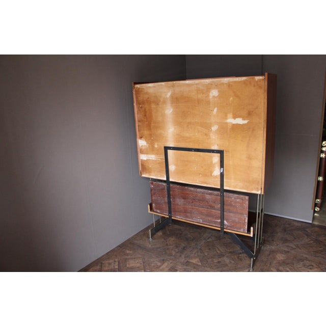 Mid Century Italian Dry Bar Cabinet,Drinks Cabinet, Cocktail Bar For Sale - Image 4 of 13