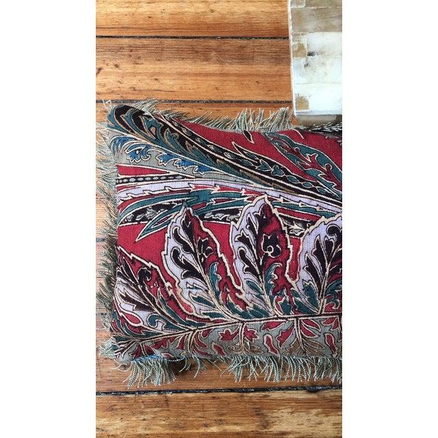 Rare and beautiful antique paisley print pillow.