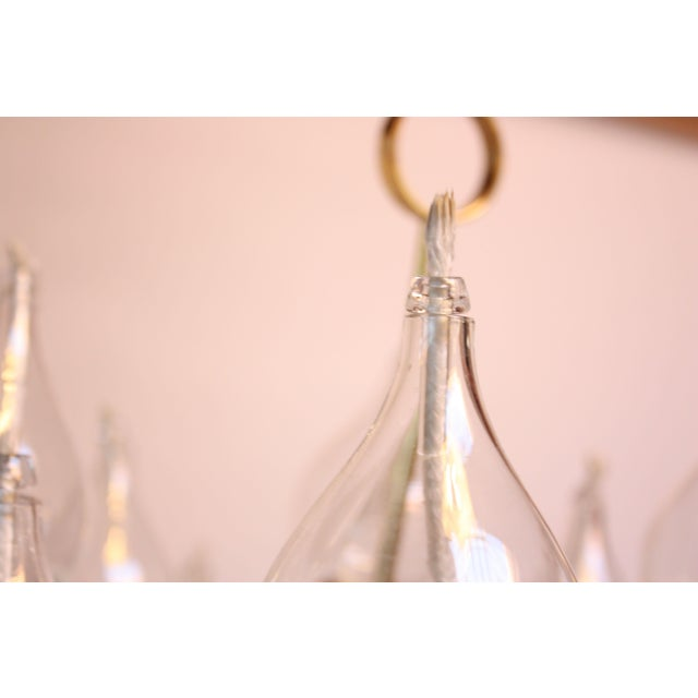 West German Brass and Glass Oil Lamp Candelabra by Freddie Andersen - Image 5 of 9