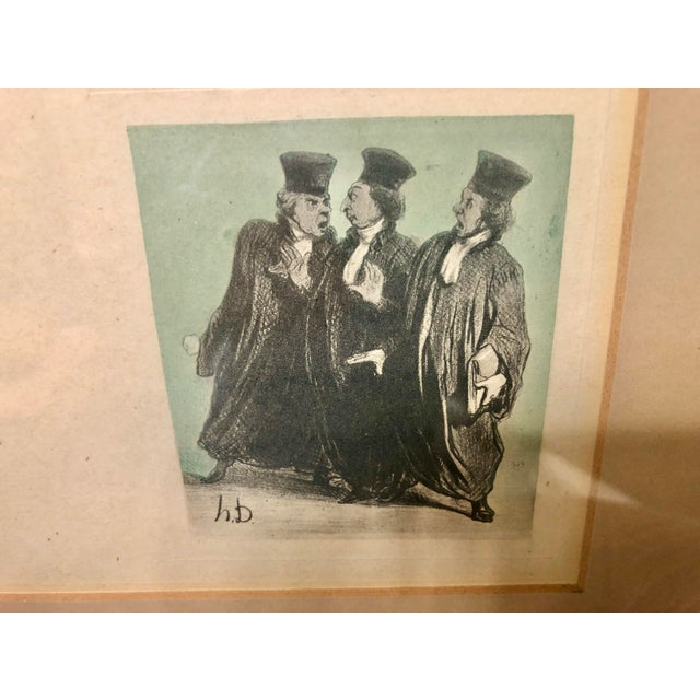 """Wood Early 20th Century Framed Wall Art, """"Passing the Bar"""" by Adrien Barrere For Sale - Image 7 of 11"""
