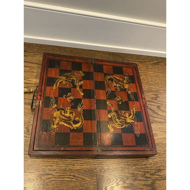 Traditional Antique Asian Chess Game For Sale - Image 3 of 9