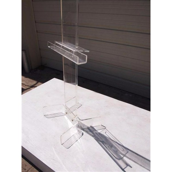 Modern Transparent Plexi-Glass Italian Easel - Image 4 of 4