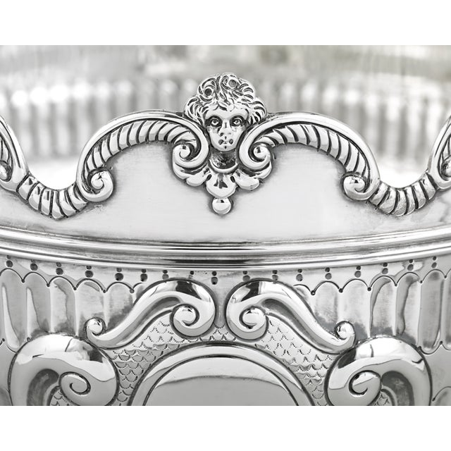 Traditional Silver Cherub Bowl By The London Assay Office For Sale - Image 3 of 5