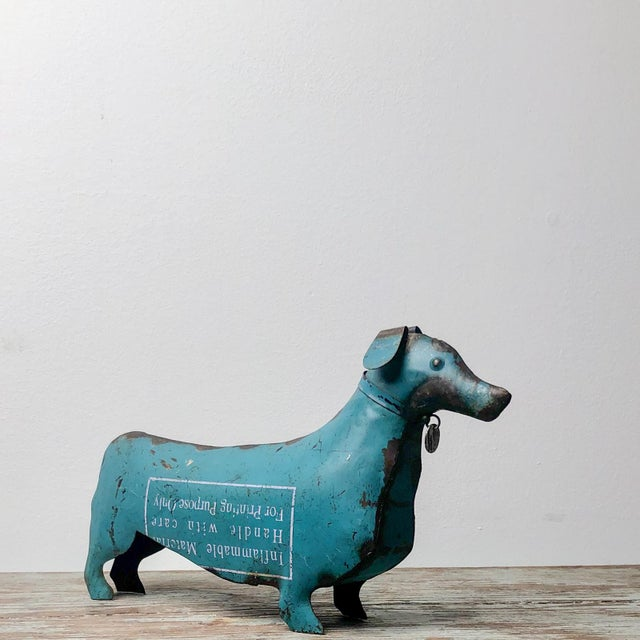 1940s Folk Art Tole Dachshund, United States Circa 1900 For Sale - Image 5 of 6