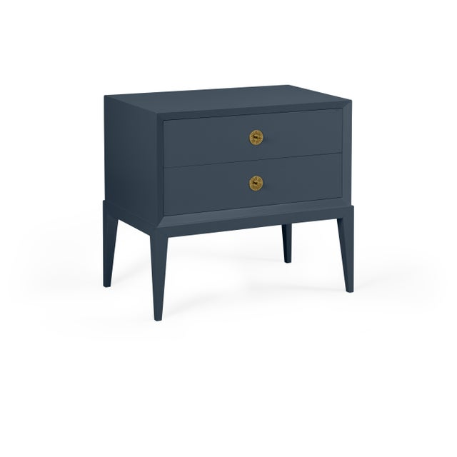 Transitional Casa Cosima Hayes 2-Drawer Side Chest, Hale Navy For Sale - Image 3 of 3