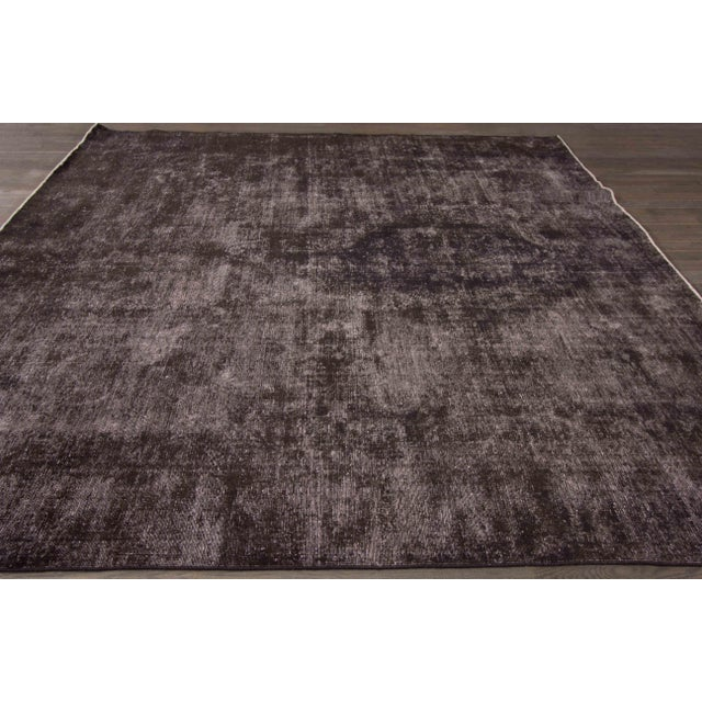 Traditional Vintage Wool Overdyed Rug For Sale - Image 3 of 7
