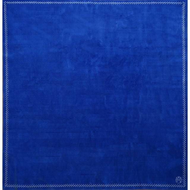 Silk Boccara Limited Edition Artistic Rug Homage to Yves Klein For Sale - Image 7 of 7
