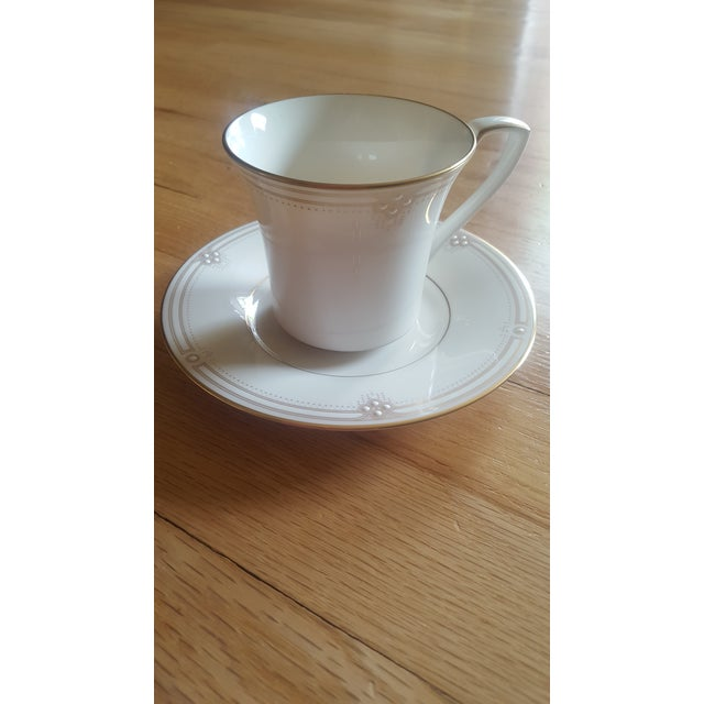 1980s Noritake Satin Gown Dinnerware - Service for 12 For Sale - Image 5 of 13