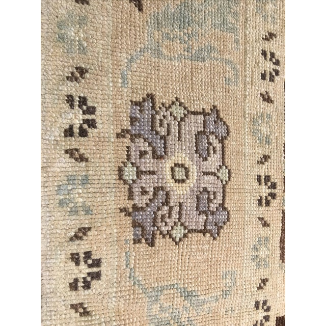 "Vintage Turkish Oushak Rug - 6' X 9'5"" - Image 6 of 8"