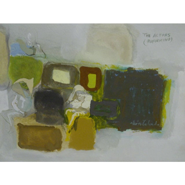"""Paint Original Painting on Paper """"The Actors (Performing)"""" by Javier Cabada For Sale - Image 7 of 8"""