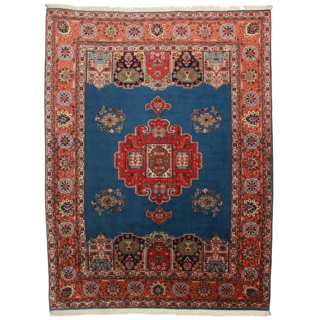"""Hand Knotted Wool Persian Tabriz Rug - 7'2"""" X 10' - Image 1 of 4"""
