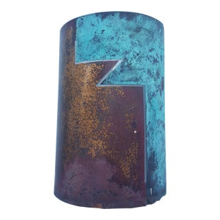 Mid-Century Architectural Design Copper Sconce Light.