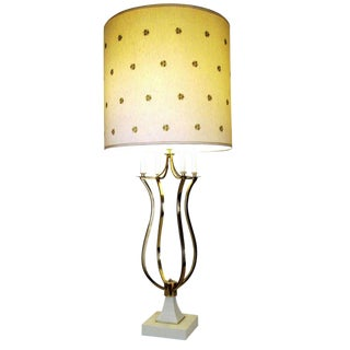 1960's Contemporary Brass Table Lamp For Sale