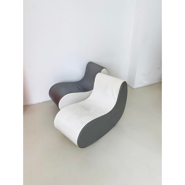 Silver 1960s Italian Rocking Boomerang Chairs - a Pair For Sale - Image 8 of 12