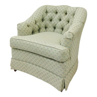 Vintage Tufted Button Back Club Chair For Sale