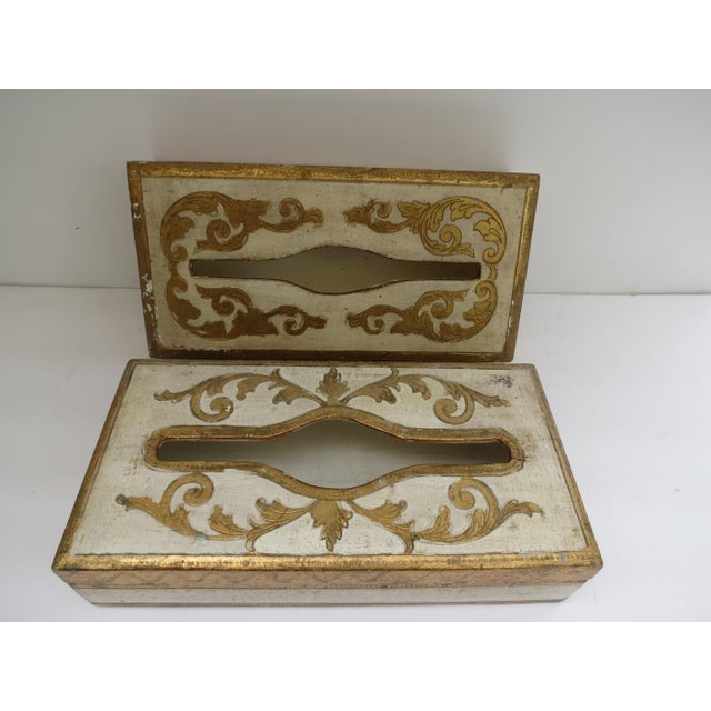 Florentine Tissue Boxes - A Pair - Image 2 of 6