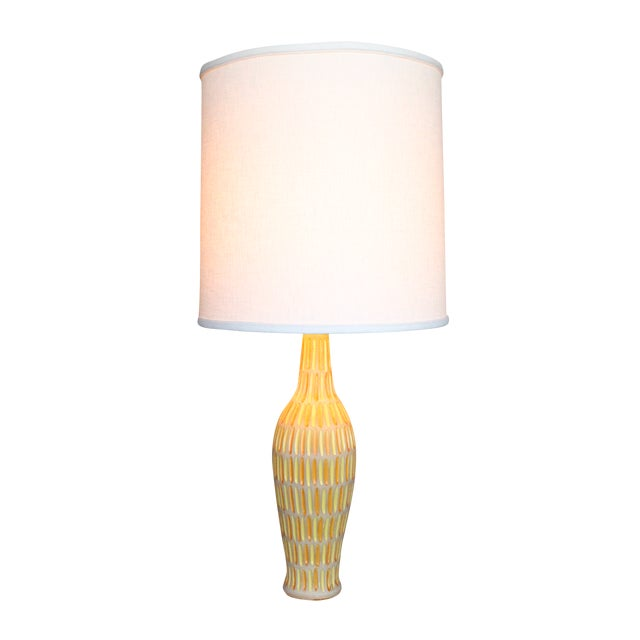 Raymor Italian Incised Pottery Lamp - Image 1 of 5