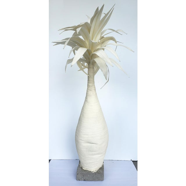 Concrete Hand-Made Palm Tree Sculpture For Sale - Image 7 of 7