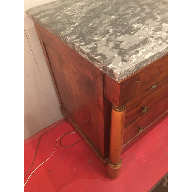 French Empire Solid Mahogany Four Drawer Chest For Sale - Image 10 of 13