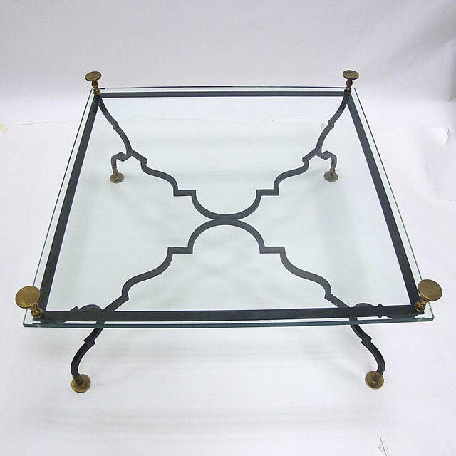 Gilbert Poillerat Heavy French Decorative Coffee Table Attributed to Gilbert Poillerat For Sale - Image 4 of 6